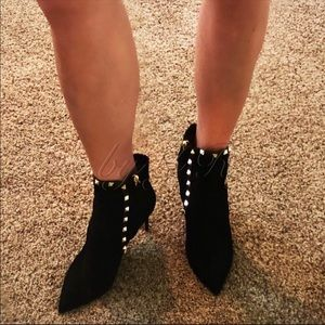 Valentino Shoes - NIB Valentino Black Suede Rockstud Booties
